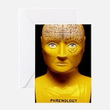 Phrenology bust Greeting Card