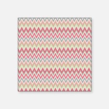 "chevron King Duvet Square Sticker 3"" x 3"""