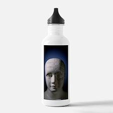 Phrenology bust by L.N Water Bottle
