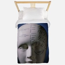 Phrenology bust by L.N. Fowler Twin Duvet