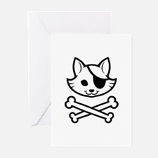 CatPirate-1 Greeting Cards (Pk of 10)