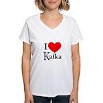 I Love Kafka Women's V-Neck T-Shirt