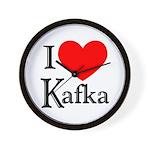 I Love Kafka Wall Clock