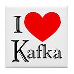 I Love Kafka Tile Coaster