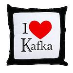 I Love Kafka Throw Pillow