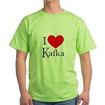 I Love Kafka Green T-Shirt