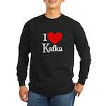 I Love Kafka Long Sleeve Dark T-Shirt