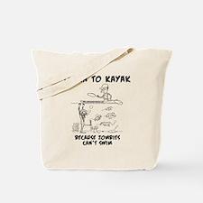 Zombie vs. Kayaker Tote Bag