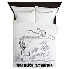 Zombie vs. Kayaker Queen Duvet