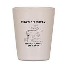 Zombie vs. Kayaker Shot Glass