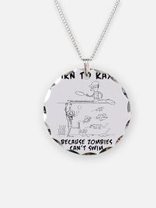 Zombie vs. Kayaker Necklace