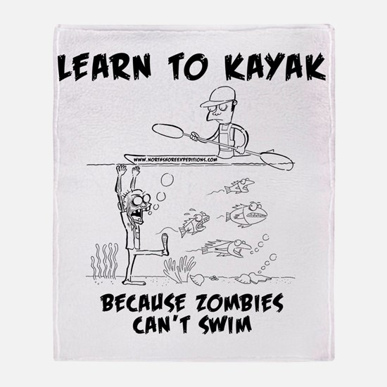 Zombie vs. Kayaker Throw Blanket