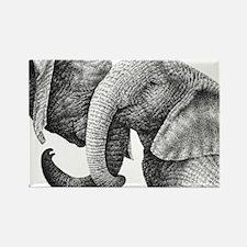 African Elephants Rectangle Cockt Rectangle Magnet