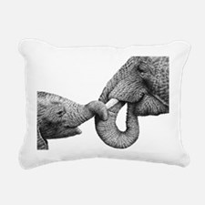 African Elephant  Calf L Rectangular Canvas Pillow