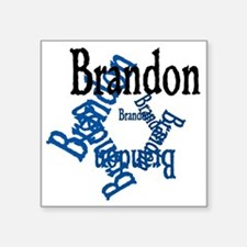 """Brandon Square Sticker 3"""" x 3"""""""