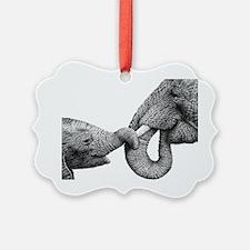 African Elephants Pillow Case Ornament
