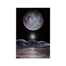 Pluto seen from Charon, artwork Rectangle Magnet