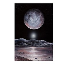 Pluto seen from Charon, a Postcards (Package of 8)
