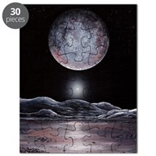 Pluto seen from Charon, artwork Puzzle