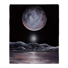 Pluto seen from Charon, artwork Throw Blanket