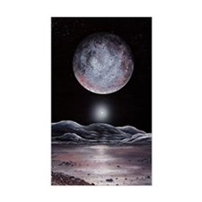 Pluto seen from Charon, artwor Decal