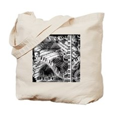 Piano Music Quotes Tote Bag