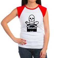 Monsanto_skull Women's Cap Sleeve T-Shirt