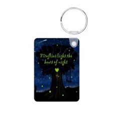 Fireflies light the heart  Aluminum Photo Keychain