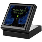 Lightning bug Square Keepsake Boxes