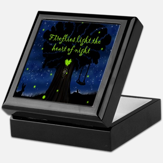 Fireflies light the heart of night SB Keepsake Box