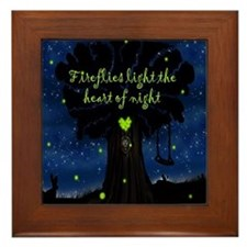 Fireflies light the heart of night SB Framed Tile