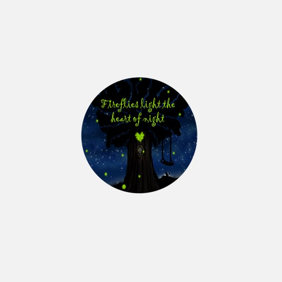 Fireflies light the heart of night SB Mini Button