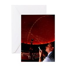 Projectionist Ray Rutter: planetariu Greeting Card