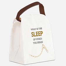 Keep-Sleep-Edge Canvas Lunch Bag