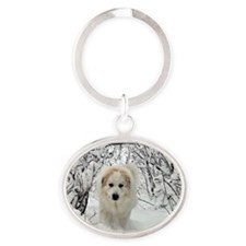 Great Pyrenees Wall Calendar 2013 Oval Keychain