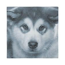 Husky Puppy face Queen Duvet