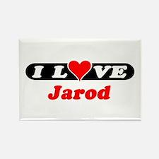 I Love Jarod Rectangle Magnet
