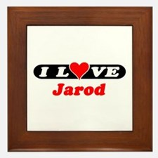 I Love Jarod Framed Tile