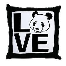 Love Panda Throw Pillow