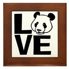 Love Panda Framed Tile