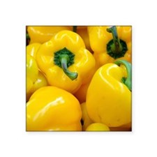 """Yellow Bell Pepper Square Sticker 3"""" x 3"""""""