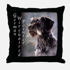 German Wirehaired Pointer Throw Pillow