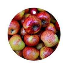 Red Apples Round Ornament