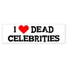 Dead Celebrities Bumper Bumper Sticker