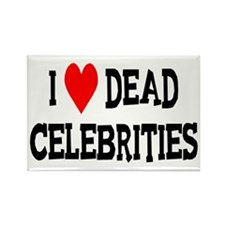 Dead Celebrities Rectangle Magnet