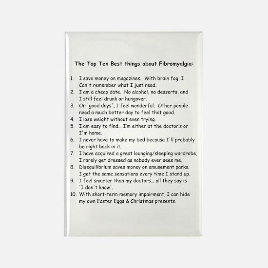 Top 10 for Fibromyalgia Rectangle Magnet
