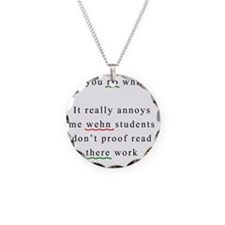 Proof Read Necklace