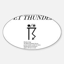 Wet Thunder Sticker (Oval)