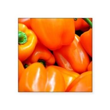 "Orange Bell Pepper Square Sticker 3"" x 3"""