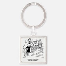 Of Course Its Impossible Square Keychain